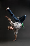 Breakdancer restant dans le gel frais Photo libre de droits