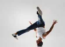 Breakdancer spinning Royalty Free Stock Images