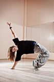 Breakdancer standing in bridge Stock Images
