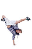 Breakdancer standing in cool freeze pose Royalty Free Stock Image