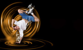 Breakdancer standing on hand Stock Photography