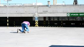 Breakdancer on the street Royalty Free Stock Image