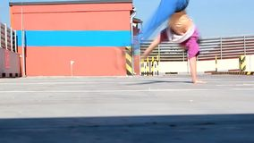 Breakdancer on the street stock footage