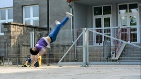 Breakdancer on the street Royalty Free Stock Photos