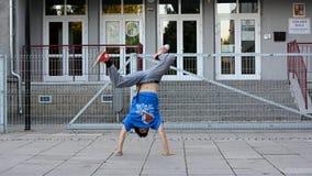 Breakdancer on the street Stock Photo
