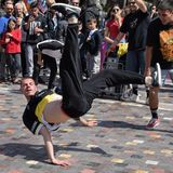 Breakdancer street dance Stock Image