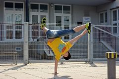 Breakdancer on the street Stock Photos