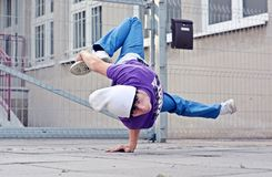 Breakdancer on the street Royalty Free Stock Images