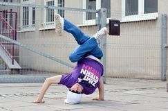 Breakdancer on the street Stock Image
