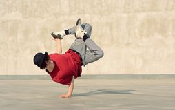 Breakdancer on the street Stock Images