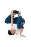 Breakdancer in su arricciato fotografia stock libera da diritti