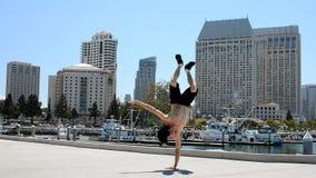 Breakdancer sulla via Immagini Stock