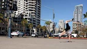 Breakdancer sulla via Fotografie Stock