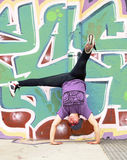 Breakdancer and wall Stock Images