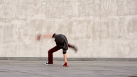 Breakdancers stock footage