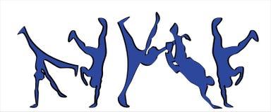 Breakdancers Fotografía de archivo