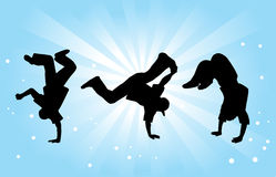 Breakdancers Stockfoto
