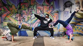 Breakdancers group Royalty Free Stock Photography