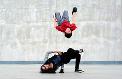 Breakdancers na ulicie Obraz Stock