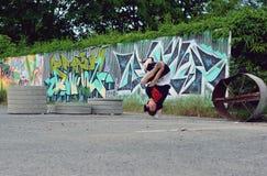 Breakdancers på gatan Fotografering för Bildbyråer