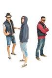 Breakdanceteam von Kerlen Lizenzfreie Stockfotos
