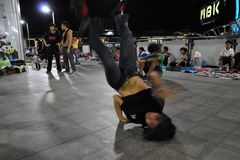 Breakdancing B-Boy Royalty Free Stock Photos