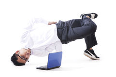 Breakdancing Businessman Stock Photos