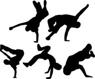 Breakdancing group stock illustration