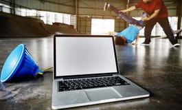 Breakdancing Hip Hop街道文化体育活动概念 免版税库存照片