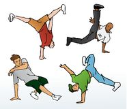 breakdancing illustration Royaltyfria Bilder
