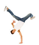 Breakdancing isolated Royalty Free Stock Photo