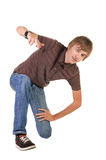 Breakdancing position Royalty Free Stock Photography