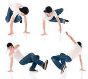 Breakdancing positions Royalty Free Stock Photography