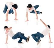 breakdancing pozycje Fotografia Royalty Free