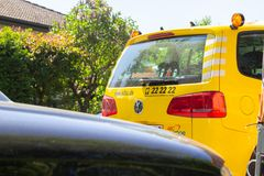 Breakdown service car from ADAC stock image