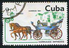 Breake. CUBA - CIRCA 1981: stamp printed by Cuba, shows Breake, circa 1981 royalty free stock image