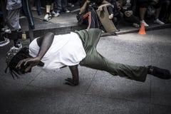Breake-Tanzjunge stockfoto