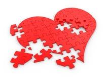 Breaked heart Stock Image