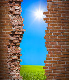 Breaken wall freedom concept Stock Photo