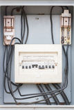 Breaker, electric system. Old breaker, switch, power system, electric Royalty Free Stock Photography