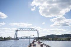 Aerial Lift Bridge in Duluth Minnesota Royalty Free Stock Image