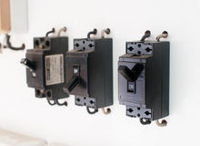 Breaker switch Stock Image