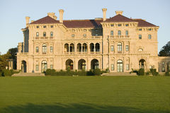 The Breakers, built by Cornelius Vanderbilt of the Gilded Age, as seen on the Cliff Walk, Cliffside Mansions of Newport Rhode Isla Royalty Free Stock Images