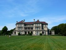 The Breakers Newport Rhode Island. The Breakers is a Historic Mansion built for Cornelius Vanderbilt II in 1893 in Newport, Rhode Island. This picture is the stock image