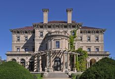 The Breakers is a one of the most fabulous building built in 1893 for Cornelius Vanderbilt and his family in Newport, Rhode Island royalty free stock photography