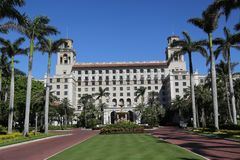 The Breakers Palm Beach historic hotel. PALM BEACH, FLORIDA - MARCH 21, 2018: The Breakers Palm Beach historic hotel. The Breakers Palm Beach is a historic, 538 Stock Photo