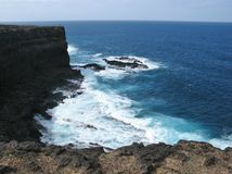 Breakers at the west coast of Fuerteventura Stock Images