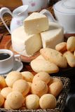 Breakfast. With bread cheese typical of Brazil Stock Photos