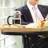 Breakfast. Business man enjoying breakfast Stock Images