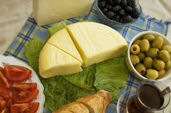 Breakfast. Turkish breakfast with Delicious and fresh cheese stock photography